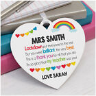 PERSONALISED Lockdown Teacher Assistant Nursery Rainbow Thank You Plaque Gifts