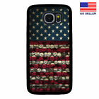 USA AMERICAN FLAG SKULLS PHONE CASE SAMSUNG GALAXY 6 S7 S8 S9 S10 PLUS EDGE NOTE