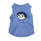 Gingham Embroidered Dog Clothes Vest for Small Medium Dogs Summer