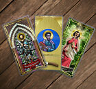 Saint Bartholomew Nathanael the Apostle laminated Catholic Holy Prayer cards.