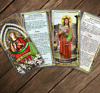 Saint Philomena Stained Glass Statue art laminated Holy Prayer cards.