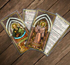 Saint Benedict, kidney problems - Stained Glass laminated Holy Prayer cards.