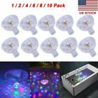 10X Floating Underwater LED Disco Light Glow Show Swimming Pool Hot Tub Spa Lamp $10.98 USD on eBay