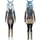 Star Wars Rebels Ahsoka Tano Cosplay Costume Dress Halloween Carnival Outfit
