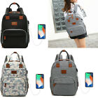 USB Diaper Bag Mummy Stroller Backpack Baby Charging Nursing Nappy Organizer