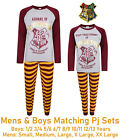 MENS BOYS HARRY POTTER PYJAMAS HOGWARTS STUDENT ALUMNI NIGHT WEAR PJ SETS NEW