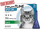 FRONTLINE Spot On Flea & Tick Treatment for Cats - 3 or 6 Pipettes