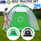 2M Golf Practice Driving Hit Net Cage Training Mat Aid Driver Irons + Free Bag