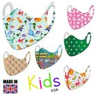 Childrens Kids Breathable Face Mask Washable Reusable Protection Face Cover Uk
