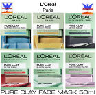 L'Oreal Paris PURE CLAY FACE MASK 50ml *BRAND NEW*