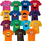 Inspired Sesame Street Face Characters Birthday matching family cute T-Shirts