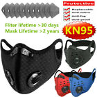 Cycling Sports Face Mask & Activated Carbon Fliter Pads Set Reusable Washable