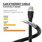 PS4/Xbox TV Outdoor/Indoor Cat 8 Cat7 Ethernet Network LAN Patch Cable RJ45 Lot