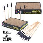 OPHIR Color Clip Base Model Stand Holder & Coloring Clips f Craft Model Painting
