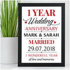 Daughter and Son In Law Anniversary Gifts Personalised 1st Wedding Paper Present
