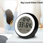 Digital Touch Screen Wall Desk Clock Hygrometer Thermometer Alarm Clock Home US