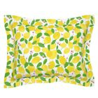 Lemon Summer Fruit Citrus Tree Buds Leaves Yellow Pillow Sham by Roostery