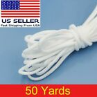 50 yard 1/8' Round Elastic Band Rope Cord Ear Hanging Tape Sewing For Face Masks