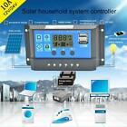 10-30A Solar Panel Battery Charge Controller 12V 24V Dual Auto USB N9O0