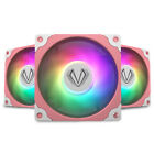 lot 5 Vetroo Sakura Pink ARGB LED 120mm PC Computer Case Cooling Fan 3Pin/4Pin