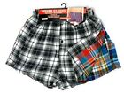 Men's Woven Boxer Shorts Check Cotton Rich Underwear Breifs Short Trunks 3 6 12