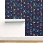 Wallpaper Roll Spiders Insects Creepy Science Pop-Art Colorful 24in x 27ft