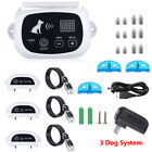 1/2/3 Electric Dog Wireless Fence Shock Collar No-Wire Pet Containment System US