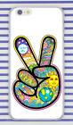 Hippie Psychedelic Peace Art Victory Hand Hard Cover Case For iPhone Huawei New
