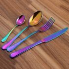 1Pc Rainbow Dinner Stainless Steel Cutlery Set Unique Amazing Colour Dinner E8X6