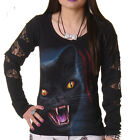 SPIRAL DIRECT FELINE FURY LONG SLEEVE T SHIRT TOP GOTHIC  ALTERNATIVE SIZE XL