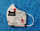 Washable Handmade Fabric Face Mask filter pocket THE SHINING ALL WORK  NO PLAY
