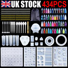 284pcs Resin Casting Molds Silicone Diy Jewelry Pendant Mould Making Craft Kit