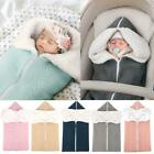 Newborn Baby Blanket Zipper Knit Crochet Warm Swaddle Wrap Stroller Sleeping Bag