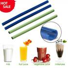 1/5* Resuable Food Grade Silicone Drinking Straw Easy Cleaning Openable Clean