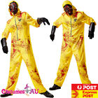 Mens Hazmat Suit Jumpsuit Halloween Lab Walter Hazard Breaking Bad Costume