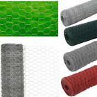Galvanised Steel Chicken Wire Fence Mesh Netting Fencing Hexagonal PVC Coated