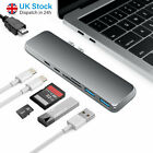 For MacBook Pro 7 in 1 USB-C Hub Dual Type-C Multiport Card Reader Adapter HDMI