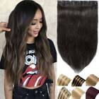One Piece Full Head Hair Extensions Clip In Human Hair Extension 16-26