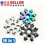 18 In 1 Snowflake Multi Tool Portable Stainless Tool Screwdriver Key Chain