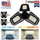 60/80W Deformable LED Garage Lights Super Bright Shop Ceiling Lights Bulb 8000LM