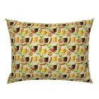 Octoberfest Beer Bratz Hops And Pretzles Beer Drinking Pillow Sham by Roostery