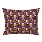 Beer Funny Fall Bratz Pretzel Hops Octoberfest Pillow Sham by Roostery