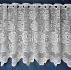 Sally Lace Cafe Net  Curtains White - Sold By The Metre