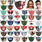 2020 Merry Christmas Face Mask Protective Covering Mouth Masks Washable Reusable