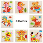 3D Wooden Puzzles Cartoon Animal Puzzle For Toddler Infant Kids Wood Toy