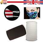 Face Mask Elastic For Sewing Quality Uk Stock Thin Flat Strip Black White 5/6mm