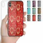 For Apple iPhone Series - Paisley Pattern Tempered Glass Back Case Phone Cover