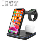 For iPhone 12 11 Pro Max XS 3 in 1 Wireless Fast Charger Charging Stand Station