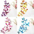 12pcs Colourful Butterflies Wall Decal Home Stickers Bedroom Livingroom Decor