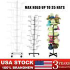 Metal Hat Display Racks Rotating Hat Storage Display Holder Stand 7 Tier US NEW